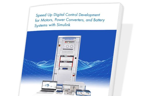 Speed Up Digital Control Development for Motors, Power Converters, and Battery Systems with Simulink
