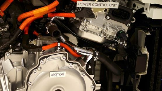 Electric car motor drive