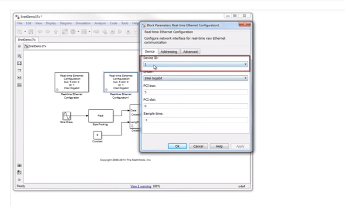 Raw Ethernet Communication Support from Simulink Real Time