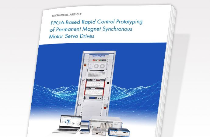 FPGA-based rapid control prototyping of permanent magnet synchronous motor servo drives