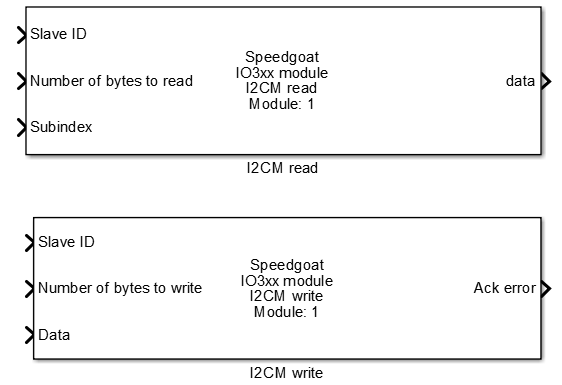 Speedgoat - I2C Master protocol communication for Simulink with